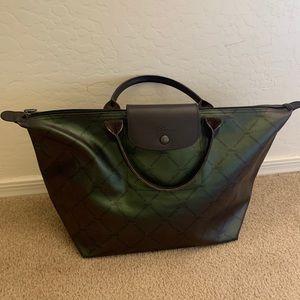 Longchamp Medium Short Handle Metallic Tote